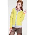 慕薩品牌女秋裝單排扣圓領羊絨開衫韓版長袖甜美羊毛衫高檔針織衫