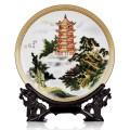 定制陶瓷盘子,青花瓷盘子,人物肖像盘子