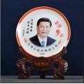 供应定做颜色釉彩瓷赏盘,主席头像纪念收藏瓷盘