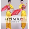 上海现代秧歌表演舞蹈服租借 杨浦区扇子舞服装租赁 