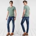 新款男裝牛仔 青少年春裝復古修身小直筒牛仔褲