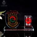 中国人民武装警察部队学院水晶工艺品,广州奖杯制作公司
