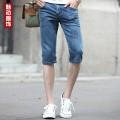 廣州牛仔服裝韓版微彈修身小直腳牛仔褲