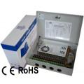 安防监控电源箱 监控电源 12V350W 18路输出 足功率 质保2年