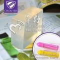 荧光固体炫彩棒笔芯采用的制作材料透明基蜡来自深圳卓野天然环保水溶性