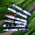 平安广告礼品青花瓷钢笔 陶瓷签字笔