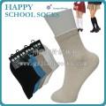 净色可提花LOGO学生袜,优质短统校服袜,学生袜供应商