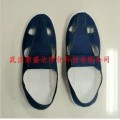 高品质防静电蓝色无气味洁净四孔PU/PVC鞋制造商-鼎盛达