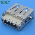大量供应 USB连接器 AF双层母座90°