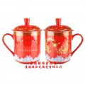 寿辰纪念礼品陶瓷寿杯定做厂家