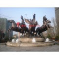 歐式馬拉車雕塑,房地產大門口雕塑,城市雕塑,景觀雕塑