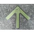地鐵專用蓄光夜光疏散導向標志牌,自發光不銹鋼站臺上下指示標識