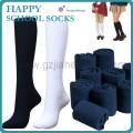 純棉長筒純色學生襪 襪子工廠加工定做