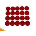 批发耐高温红色美纹纸胶贴 喷涂圆贴 遮孔贴纸 避粉高温贴纸