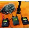 SaramonicUwMic9單反話筒小蜜蜂錄音一拖二無線麥