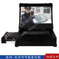 15寸抽拉式工業便攜機定制軍工筆記本機箱一體機視頻采集工控機