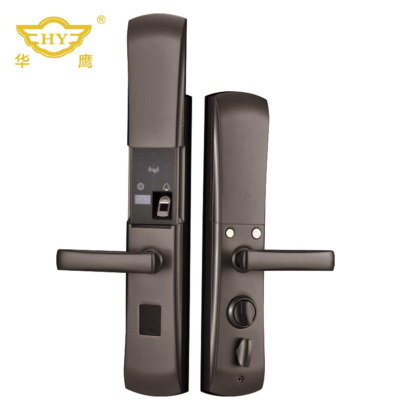 HY007华鹰半导体家用防盗门入户门全自动智能指纹锁