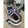 水渠U型槽钢模具 U型排水槽钢模具