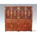 大客廳用緬甸花梨書柜組合 大師設計花梨木書柜大料獨板不上漆