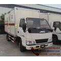 江铃易燃气体厢式运输车 3.15米国五厢式气瓶运输车