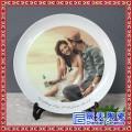 情侣照片照挂盘摆盘定制盘瓷盘结婚纪念照写真陶瓷看盘艺术照