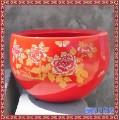 景德镇陶瓷手绘青花瓷聚宝盆鱼缸乌龟缸书画缸富贵牡丹茶洗