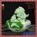 办公室桌面摆件陶瓷喷泉创意乔迁开业礼品家居客厅流水雾化加湿器