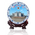 建校周年慶紀念品定制景德鎮陶瓷圓盤
