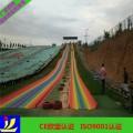 彩虹的颜色就是希望的颜色旱雪彩虹滑道旱雪道七彩道