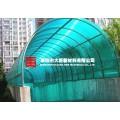 宝安松岗西乡订做批发卡布隆中空PC阳光板雨棚建材厂家