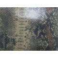 供应优质立体蛇纹贴膜牛皮 2-020 同睿皮革