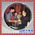 景德镇陶瓷高温艺术盘摆件 定制印制公司LOGO照片纪念礼品