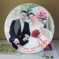結婚周年紀念盤定制 結婚紀念品定制照片