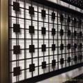 生产不锈钢花格镂空屏风 酒店KTV客厅彩色黑钛金屏风隔断