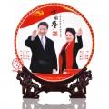 國慶禮品偉人瓷盤定制 偉人頭像紀念裝飾盤