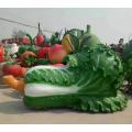 深圳仿真蔬菜瓜果玻璃鋼大白菜雕塑模型實力商家