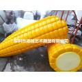 河南農業景區游樂道具玉米造型之一玻璃鋼滑滑梯雕塑