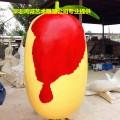 绿色农产品宣传道具摆放之玻璃钢红枣造型雕塑