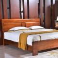 全实木胡桃木床主卧1.5m1.8m米现代中式卧室简约双人大床