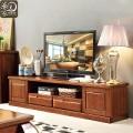 直销简约中式实木电视柜客厅电视柜 小户型胡桃木客厅地柜