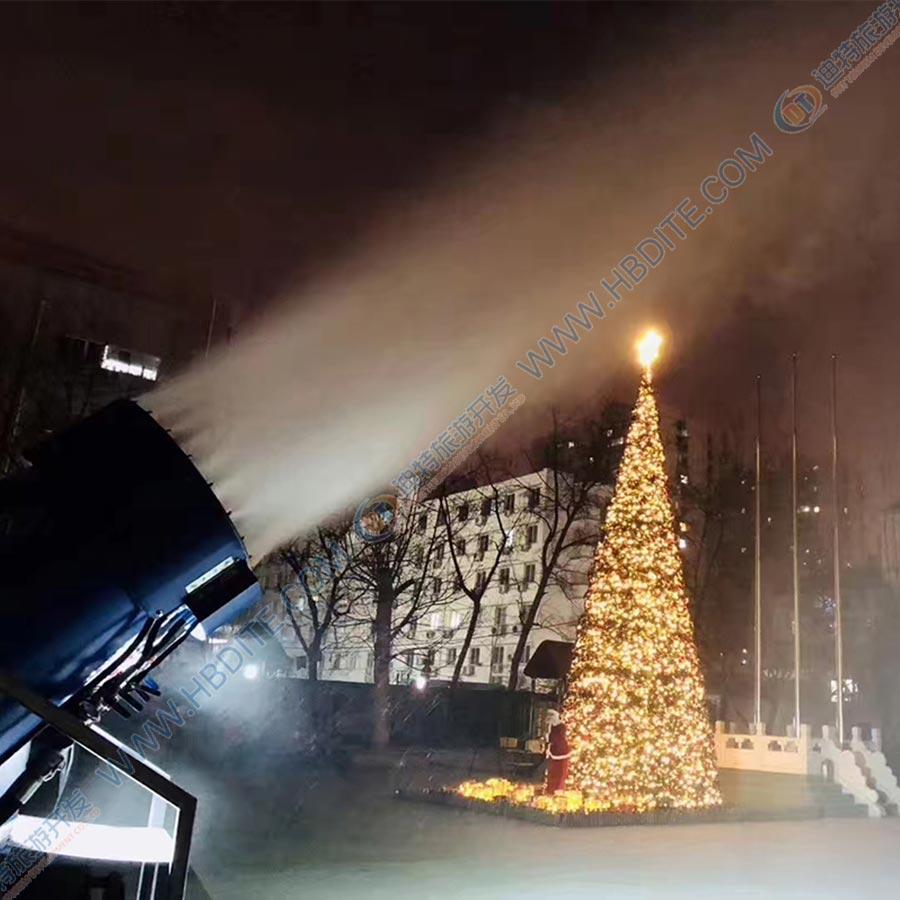 厂家提供出雪量大,自动摆头造雪机