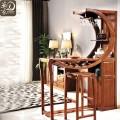 家用厨房客厅隔断实木胡桃木酒吧吧台桌家用隔断小吧台