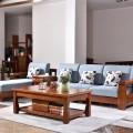 胡桃木实木茶几全实木沙发组合客厅中式转角沙发质量保证