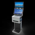 錢林安防人證訪客機|出入識別一體機|雙屏顯示訪客證件掃描機