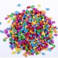 彩色石子 水磨石彩色石子 人工染色彩石 机制染色卵石