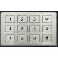 12位不锈钢平板键盘,金属防水防尘电话机,304不锈钢键盘