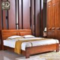新中式胡桃木实木床卧室家具双人1.8实木床9028