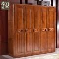 实木衣柜四门五门大衣柜衣橱卧室家具中式实木衣柜9101#