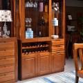 实木套装组合桌椅胡桃木客厅酒柜 胡桃木 酒柜9601#