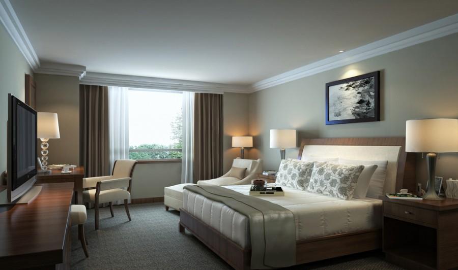 卧室墙背景家居房间起居室设计卧室酒店装修现代装修900_53专科设计上海图片